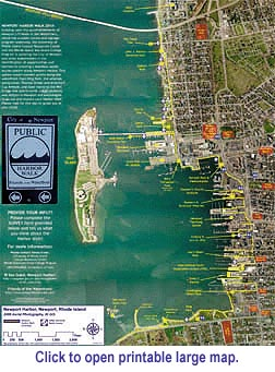 Newport Harbor Walk Map and poster